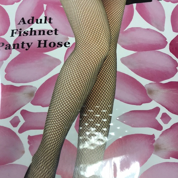 Black fishnet pantyhose one size fits all